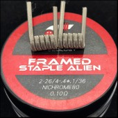 Coilology Ni80 Framed Staple Alien Handcrafted Coils 2pcs/box