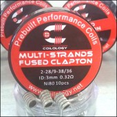 Coilology Ni80 Multi-Strands Fused Clapton Premade Coils 10pcs/box