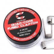 Coilology Ni80 Quad-Core Fused Clapton Premade Coils 10pcs/box