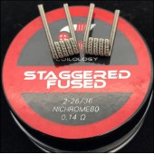 Coilology Ni80 Staggered Fused Clapton Handcrafted Coil 2pcs/box