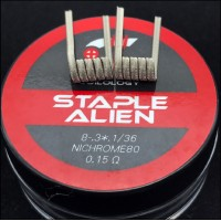 Coilology Ni80 Staple Alien Handcrafted Coils 2pcs/box