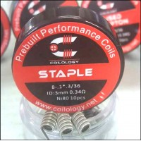 Coilology Ni80 Staple Premade Coils 10pcs/box