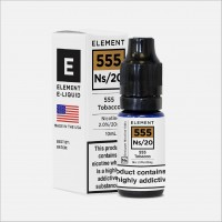 NS20 555 Tobacco by Element 10ml Salt Nic 20mg E-Liquid