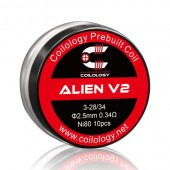 Coilology Ni80 ALIEN V2 Prebuilt Coils 10pcs/box