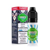 Dinner Lady Apple Sours 10ml Salt Nic 20mg E-Liquid