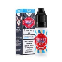 Dinner Lady Strawberry Ice 10ml Salt Nic 20mg E-Liquid