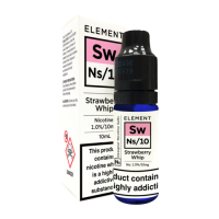 ELEMENT Strawberry Whip NS/10 10ml Salt Nic 10mg E-Liquid