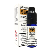ELEMENT 555 Tobacco NS/10 10ml Salt Nic 10mg E-Liquid