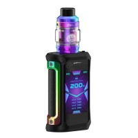 Geekvape Aegis X 200W TC Kit with Zeus Tank Rainbow Black (2 x Batteries 18650 INCLUDED)