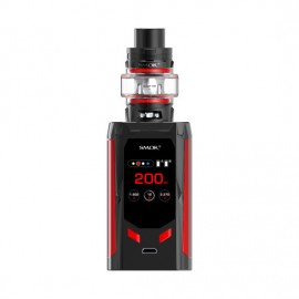 SMOK R-Kiss 200W TC Kit with TFV8 Baby V2 5ml Tank Black Red (2 x Batteries 18650 INCLUDED)