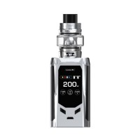 SMOK R-Kiss 200W TC Kit with TFV8 Baby V2 5ml Tank Silver Black (2 x Batteries 18650 INCLUDED)